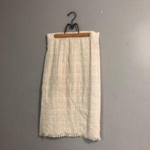 Dolce & Gabbana Tweed Knee Length Pencil Skirt